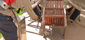 Corky's Extra Protection - Patio furniture is inspected and treated where spider webs and nests are found.